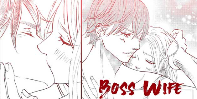 Screenshot from Manga Boss Wife, Man leans in and Kisses woman
